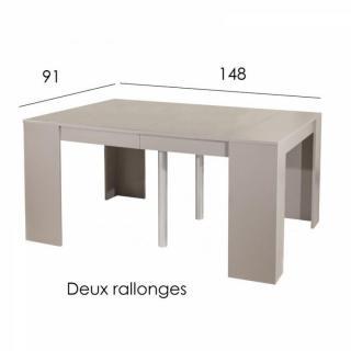 console extensible le gain de place tendance au meilleur prix console elasto taupe mat. Black Bedroom Furniture Sets. Home Design Ideas