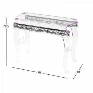 chaises meubles et rangements console sixteen violet plexi acrila design inside75. Black Bedroom Furniture Sets. Home Design Ideas