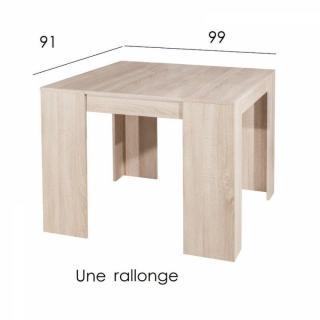 canap s convertibles ouverture rapido console elasto ch ne clair extensible en table repas 10. Black Bedroom Furniture Sets. Home Design Ideas