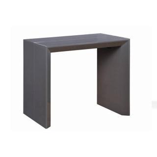 Console extensible en table repas EXTENSO DELUXE gris brillant, 12 couverts.