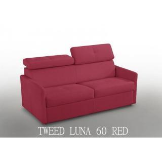 Canapé lit  PARIS COUCHAGE OUVERTURE RAPIDO 140cm Tweed rouge