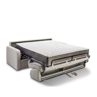 Canapé convertible express SPRING 160 cm sommier lattes matelas à ressorts 20 cm