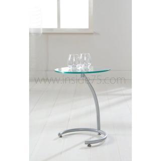 Sellettes gueridons meubles et rangements courbes bout de canap sellette avec plateau en - Bout de verre dans le pied ...