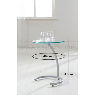 Bouts de canapes tables et chaises courbes bout de canap sellette avec plateau en verre - Bout de verre dans le pied ...
