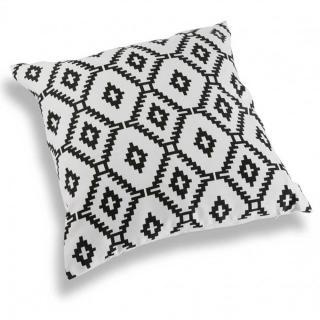 Coussin ORI blanc motif origami noir