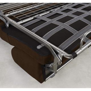 Canapé convertible rapido CRÉPUSCULE matelas 120cm comfort BULTEX® revêtement polyuréthane marron
