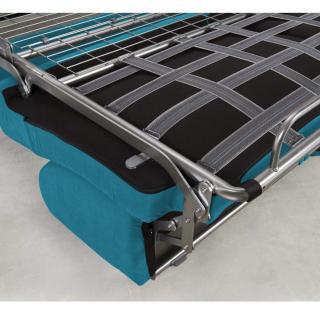 Canapé convertible rapido CRÉPUSCULE matelas 120cm comfort BULTEX® tweed bleu turquoise