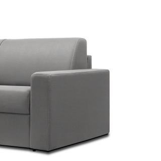 Canapé convertible rapido CRÉPUSCULE matelas 120cm comfort BULTEX® tweed gris clair