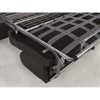 Canapé convertible rapido CRÉPUSCULE matelas 120cm comfort BULTEX® tissu tweed marron chocolat