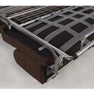 Canapé convertible rapido CRÉPUSCULE matelas 140cm comfort BULTEX® tissu neo marron