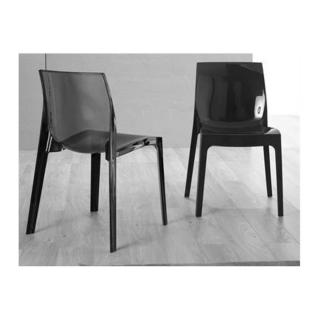 Lot de 2 chaises design CRYSTAL empilable en plexiglas