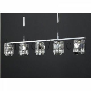 Suspension Crystal 5 LEDS hauteur réglable