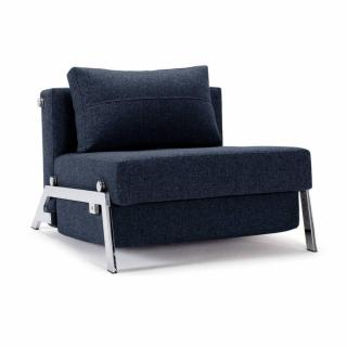 Fauteuil design SOFABED CUBED 02 CHROME Mixed Dance Blue convertible lit 200*96 cm