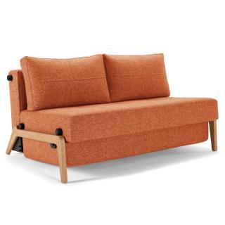 Canapé design CUBED WOOD Mixed Dance_Burned Orange convertible lit 200*140 cm