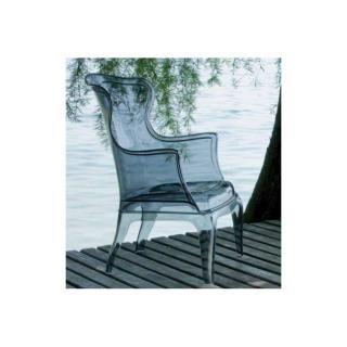 DAISY chaise design pour salons et jardins en plexi fumé