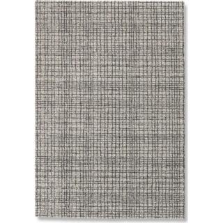 DAVINCI Tapis quadrillé noir 160x230 cm
