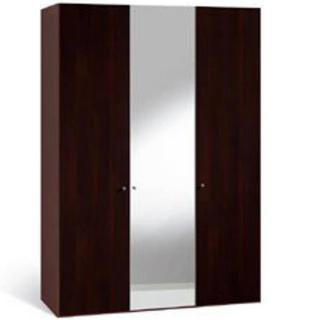 Dressing DEAN 3 portes battantes 2 couleur wengé 1 miroir