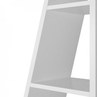DELTA 1 avec fonds bibliothèque étagère design blanche mate