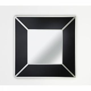 DIAMANT Miroir mural design en verre noir