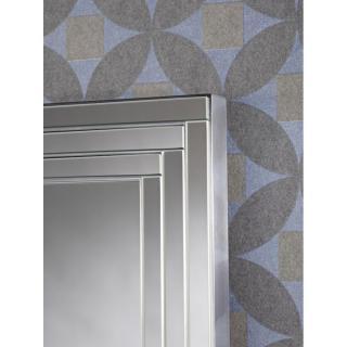 Miroirs Meubles Et Rangements Doors Miroir Mural En Verre Design Mod Le Grande Taille Argent