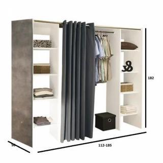 dressings et armoires meubles et rangements dressing extensible chica 2 colonnes blanc b ton. Black Bedroom Furniture Sets. Home Design Ideas