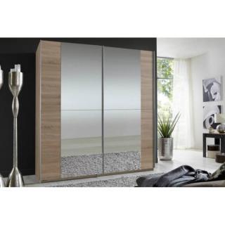 Dressing portes coulissantes miroirs FLOYD 179 cm chêne