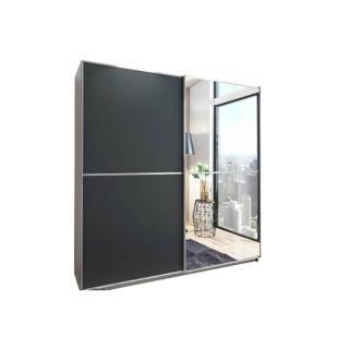Dressing portes coulissantes HENDRIX 135 cm gris graphite / miroir