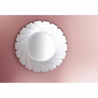 OPALE Miroir mural FLATDISH design rond en verre biseauté