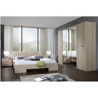 Chambre à coucher CARAMELLA chêne couchage 140x190 cm