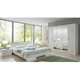 Chambre à coucher CARAMELLA chêne blanc couchage 140x190 cm