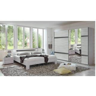 Chambre à coucher DENVER chêne blanc