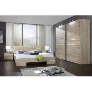 Chambre à coucher CARAMELLA chêne couchage 160x200 cm