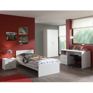 Ensemble chambre enfant AYA 4 éléments blanc couchage 90 x 200cm