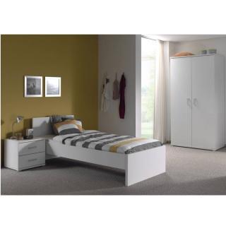 Ensemble chambre enfant AYA 3 éléments blanc couchage 90 x 200cm
