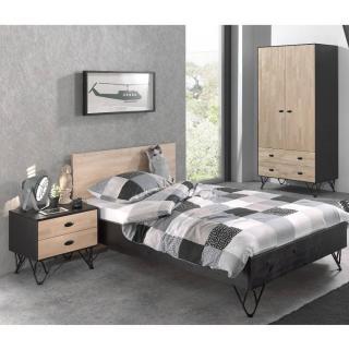 chambre enfant chambre literie ensemble chambre coucher design gabin 120cm en bois massif. Black Bedroom Furniture Sets. Home Design Ideas