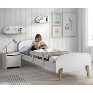 Ensemble chambre enfant INFINI blanc avec barrière de lit couchage 90 x 200cm