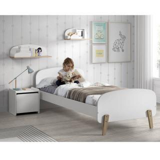 Ensemble chambre enfant INFINI blanc style scandinave couchage 90 x 200cm
