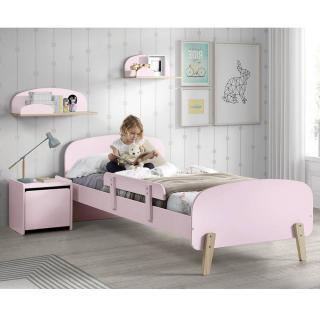 Ensemble chambre enfant INFINI rose pastel avec barrière de lit couchage 90 x 200cm