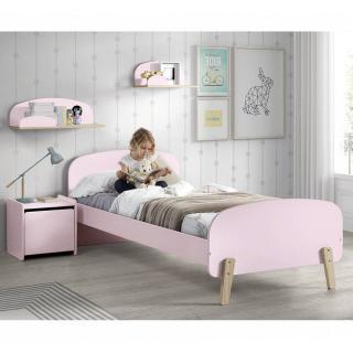 Ensemble chambre enfant INFINI rose pastel couchage 90 x 200cm