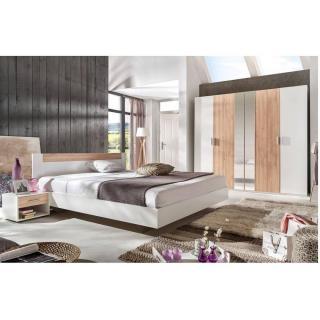 Chambre à coucher THALIA blanche/hêtre