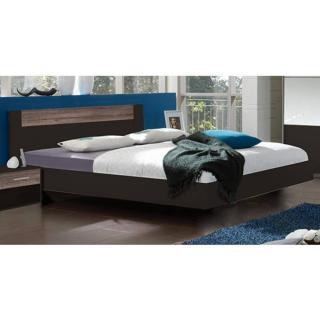 Chambre à coucher THALIA lave/châtaigne 160*200cm