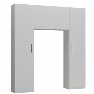 Ensemble de rangement pont 2 portes blanc mat largeur 200 cm