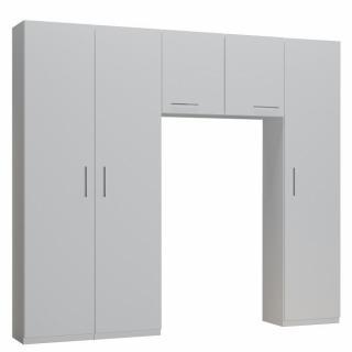 Ensemble de rangement pont 2 portes blanc mat largeur 250 cm