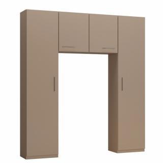 Ensemble de rangement pont 2 portes taupe mat largeur 200 cm