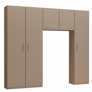 Ensemble de rangement pont 2 portes taupe mat largeur 250 cm