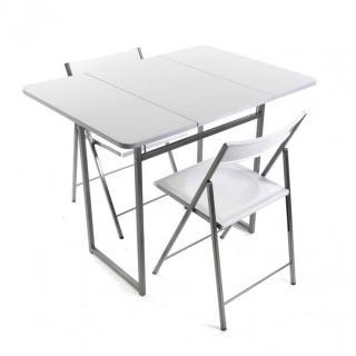 Ensemble de bar table et 2 chaises COMPACTA blanche