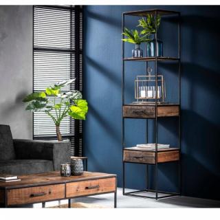 Étagère design FLOAT en vieux bois 2 tiroirs
