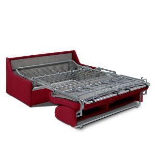 Canapé convertible GAIN DE PLACE EXPRESS 140cm matelas 14cm neo rouge