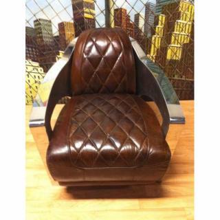 fauteuils design canap s et convertibles fauteuil club aviateur prestige en cuir marron. Black Bedroom Furniture Sets. Home Design Ideas