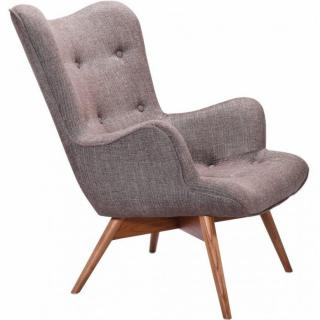 Fauteuil ANGEL, coton taupe.